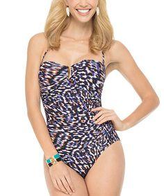 Look at this #zulilyfind! Slimming Sweetheart One-Piece - Cheetah Daze by SPANX® #zulilyfinds