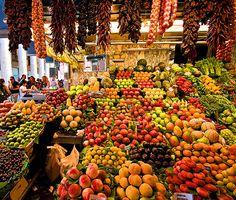La Boqueria in Las Ramblas in Barcelona, Spain.  I can't describe it.  You have to see it for youself
