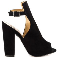 Layla - Black Suede outside view