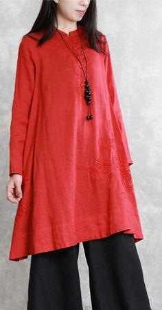 35ecd363c58a1 Women side open cotton clothes Indian Neckline gray cardigan spring ...