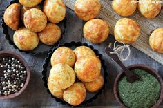 Recipe: Cheddar Dill Gougere - Shown here are the regular puffs, you can make four inch wide puffs for sandwiches.