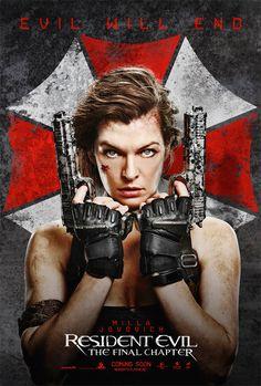Noticias de cine y series: Resident Evil: Capítulo Final: Milla Jovovich es la última esperanza en los nuevos pósteres internacionales