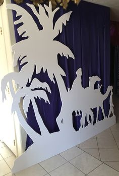 Andrea's Arabian Nights: Magalie Sarnataro's props: other dromedary silhouette in oasis cutouts in progress
