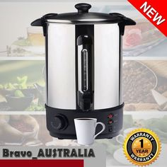 Hot Water 10 Litre Urn Water Boiler Stainless Steel 40 Cup 1600w