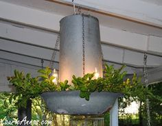 repourposed solar garden lights made from old chicken feeders Rustic Decor, Farmhouse Decor, Cool Chandeliers, Outdoor Chandelier, Chicken Feeders, Chicken Feeder Decor, Chicken Waterer, Outdoor Living, Outdoor Decor