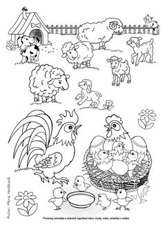 Farm Animals, Animals And Pets, Coloring Books, Coloring Pages, Animal Activities, School Worksheets, Preschool, Mandala, Snoopy