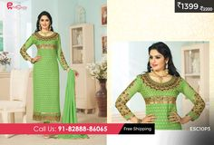 #Georgette #Suit #Parrot for just Rs 1399/- Shop now @ http://enasasta.com/deal/fantastic-georgette-suit-parrort Cash on Delivery at available (Rs99 extra) || Shipping Free Call or Whatsapp @08288886065