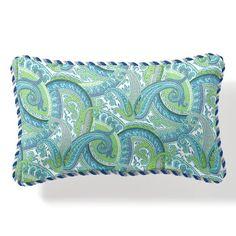 Outdoor Lumbar Pillow with Cording