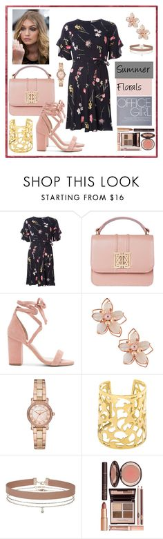 """""""Flowers in the Office"""" by boutiquebrowser ❤ liked on Polyvore featuring Dorothy Perkins, Raye, NAKAMOL, Michael Kors, Miss Selfridge and Charlotte Tilbury"""