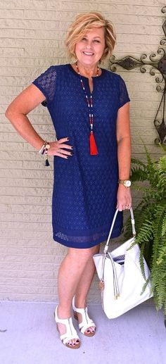 Yes to classic dress.  May be closer to something that would fit me. No to ugly white shoes.