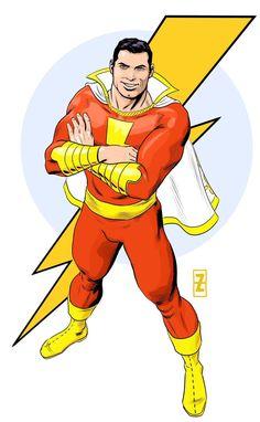 Captain Marvel / Shazam - by Patrick Zircher Captain Marvel Shazam, Marvel Dc, Mary Marvel, Shazam Comic, Original Captain Marvel, Comic Book Artists, Comic Books Art, Comic Art, Dc Comics
