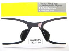 Eyeglass #SunglassesStickOn Non Slip Silicone #NosePad Adhesive Black x 1 pair New