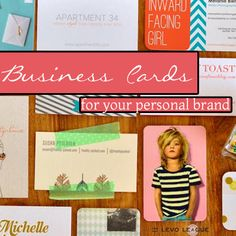 business cards for your personal brand