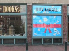 """Hold a """"Pro-test"""" For Indie Businesses Think Local Umpqua took their holiday campaign to the streets on Black Friday with staff and volunteers holding signs at a prominent intersection. Buy Local, Event Ideas, Holiday, Christmas, Campaign, Frame, Xmas, Picture Frame, Vacations"""