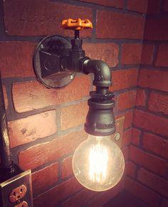 Steampunk Industrial lámpara de aplique con por EdwardandSonsLights
