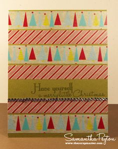 Scrapmaster's Paradise: A Merry Little Christmas Washi Card