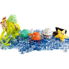 Egg Carton Sea Creatures - cute craft idea for an Under the Sea party