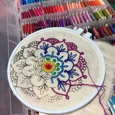 The Best Stitches In Embroidery – Handwerk und Basteln Embroidery Materials, Simple Embroidery, Embroidery Patterns Free, Hand Embroidery Stitches, Embroidery Hoop Art, Hand Embroidery Designs, Embroidery Techniques, Ribbon Embroidery, Cross Stitch Embroidery