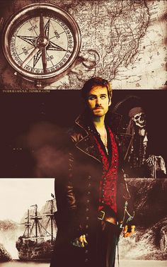 he is a friggin attractive Captain Hook.  gotta love once upon a time