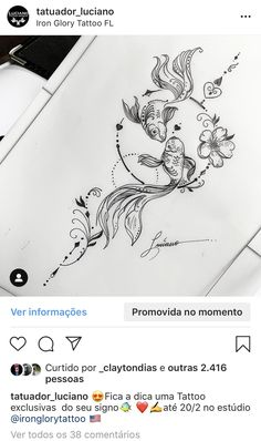 Hand drawing and painting style. Hand drawing and painting style. Hand drawing and painting style. Hand Tattoos, Body Art Tattoos, Sleeve Tattoos, Sternum Tattoos, Tatoos, Pisces Tattoo Designs, Henna Tattoo Designs, Pisces Fish Tattoos, Koi Tattoo Design