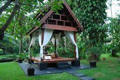 Thai Bale. Thai style garden. Thai pavilion. Exotic garden. Paradise daybed.
