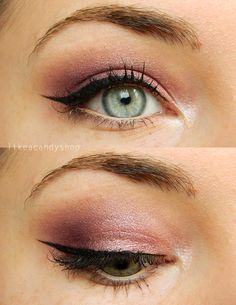 Purple eye makeup with the Sleek Vintage Romance eye shadow palette