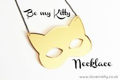 Cat Jewelry // Be my Gold Kitty Necklace by FelineFataleShop, £18.00