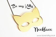 Cat Jewelry // Be my Gold Kitty Necklace by FelineFataleShop, £18.00