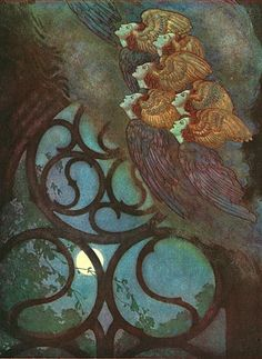 The Bells from  The Poetical Works of Edgar Allen Poe (1912) by Edmund Dulac