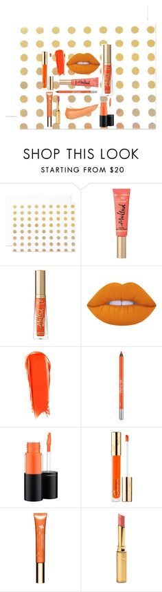 """Orange Lips"" by kiki1021426 ❤ liked on Polyvore featuring beauty, The Pink Orange, Too Faced Cosmetics, Lime Crime, NARS Cosmetics, Urban Decay, MAC Cosmetics, Bésame, Clarins and Jane Iredale"