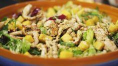 Eén - Dagelijkse kost - salade met kippenreepjes en gemarineerde ananas