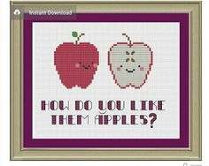 Cute apple cross stitch patterns