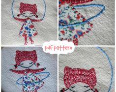 Bunny embroidery pattern pdf van LiliPopo op Etsy