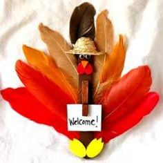 Popsicle Stick Crafts  Save your Popsicle stick and gather up feathers or leaves from around the cabin to make a bird!