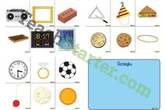 Use this Shape Sort Game to assistant your students in identifying items that are shaped like squares, rectangles, circles and triangles.