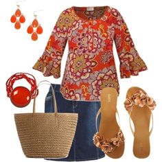 Plus size summer time, created by penny-martin on Polyvore