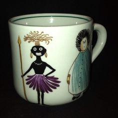 Vintage Arabia of Finland People of the World child's mug