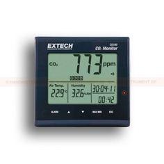 http://termometer.dk/gasanalysator-testere-r12832/luftkvalitet-meter-kuldioxid-temperatur-fugtighed-til-indendors-brug-53-CO100-r12834  Luftkvalitet Meter: Kuldioxid, temperatur, fugtighed, til indendørs brug  styringer til kuldioxid (CO 2) koncentrationer  Vedligeholdelsesfri NDIR (non-dispersive infrarød) CO 2 sensor  Indoor Air Quality vises i ppm med God (0 til 800ppm), Normal (800 til 1200 ppm), Utilfreds (> 1200 ppm) oplysning  Programmerbar synlige og hørbare CO 2 advarselsalarm...