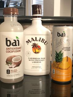 If you like pina coladas Bai bubbles Peru pineapple, Molokai cocofusion and Malibu rum Keto Cocktails, Cocktail Drinks, Malibu Rum Drinks, Low Calorie Drinks, Healthy Drinks, Summertime Drinks, Summer Drinks, Cheers, Peru