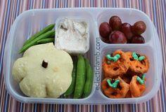 Pumpkin themed lunch with cinnamon cream cheese
