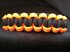 Orange with Black Paracord (custom sized) Paracord Uses, Paracord Projects, Paracord Bracelets, Boy Scouts, Knots, Orange, Trending Outfits, Unique Jewelry, Handmade Gifts