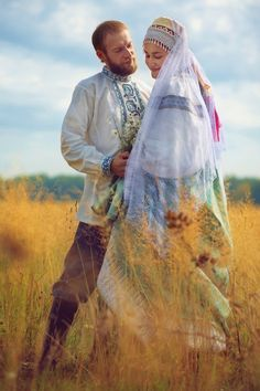Russian wedding in traditional style