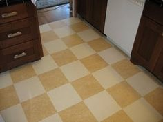 Irvington Bungalow: Marmoleum Kitchen Floor