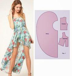 Moda e Dicas de Costura: TRANSFORMAÇÃO DE VESTIDO ASSIMÉTRICO: