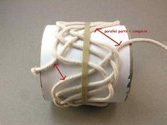 Turks head knot bracelets and contemporary fiber bracelets: 11x4x3 tutorial part 3