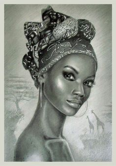 The Secrets Of Drawing Realistic Pencil Portraits - pencil portraits by mail-lo Secrets Of Drawing Realistic Pencil Portraits - Discover The Secrets Of Drawing Realistic Pencil Portraits Black Girl Art, Black Women Art, Art Girl, Black Girls, Black Art Painting, Black Artwork, Pencil Portrait, Portrait Art, Afrika Tattoos