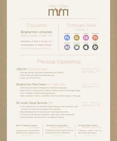 How To Layout A Resume Pinhannah Hitchcock On Design Inspiration  Pinterest  Cv Ideas .