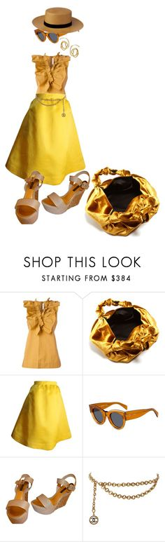 """evenings still warm"" by bananya ❤ liked on Polyvore featuring Marni, The Row, Balenciaga, CÉLINE, Louis Vuitton, Chanel and E L L E R Y"