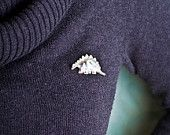 Diplodo Sterling Silver Brooch // Naive // by Noga Berman // For him // For her // Unisex. $99.00, via Etsy.
