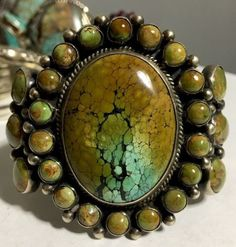 HUGE-BOLD-Turquoise-Cuff-By-M-amp-E-Platero-111-GRAMS